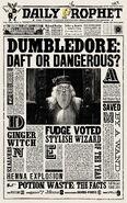 MinaLima Store - The Daily Prophet - Dumbledore Daft or Dangerous