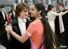 Harry e Parvati al Ballo del Ceppo