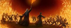 Harry et Dumbledore contre les Inferi