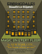 MinaLima Store - Ebbingdales 'Wonders for Wizards' Advertisement