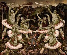 Teaching trolls ballet