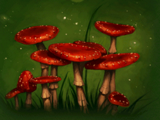 Fat red toadstool