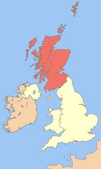 Uk map scotland