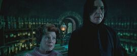 Umbridge wizytujaca Snape'a