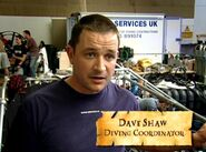 Dave Shaw (Diving Coordinator in HP4 - The Lake scene)