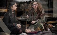 Deathly Hallows Part 2. Professor Trelawney and Padma Patil