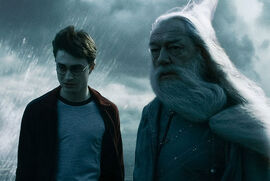 Harry i Dumbledore na klifie