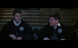 Harry og Ronny som Krabbe og Gurgel i smygards oppholdsrom