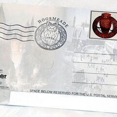 Открытка со штампом и маркой отделения почты