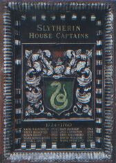 Slytherin Captains Plaque 2