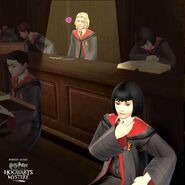 Leviosa Kid and Unidentified Gryffindor Girl from Harry Potter Hogwarts Mystery 1