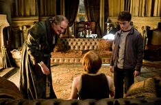 Ron and Harry Potter at Slughorn's office