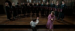 Umbridge inspecting Flitwick