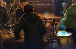 Harry préparant une potion
