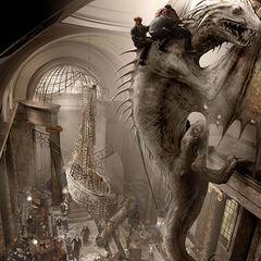 Холл банка во время побега на драконе