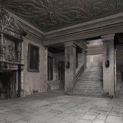 Макет холла родового замка