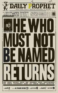 Profeta Diário confirma retorno de Voldemort