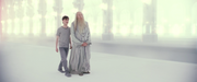 Harry and Dumbledore in limbo