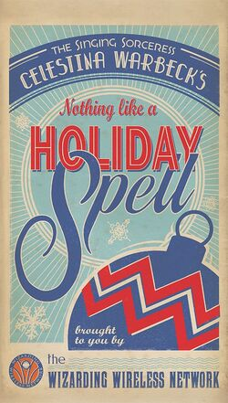 Celestina Warbeck Holiday album NOTHING LIKE A HOLIDAY SPELL poster