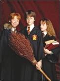 Trio in jüngeren Jahren Harry, Ron + Hermine