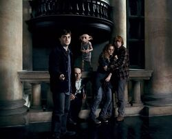 -07 Dobby rescuing Harry Potter, Griphook, Hermione and Ron