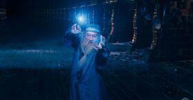 Dumbledore duelling Voldemort