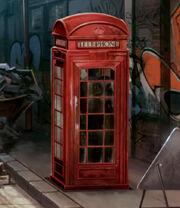 Cabine téléphonique pour entrer au ministère de la magie