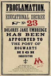 Educational Decree Number 23