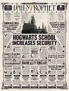 La Gazette du sorcier - Hogwarts School Increases Security