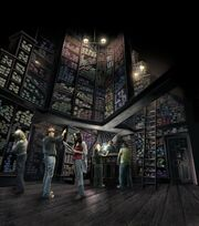 Concept photo of Ollivander's wand shop