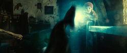 Hermione blasting Nagini