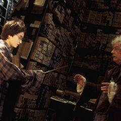Гарри выбирает палочку в лавке у Олливандера