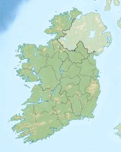 Ireland relief location map
