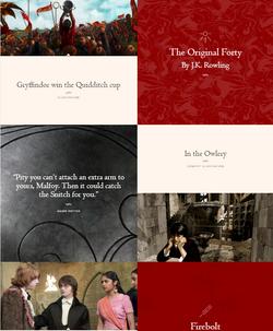 Скриншот Pottermore
