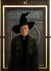 McGonagall with blackboard