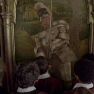 Сэр Кэдоган охраняет башню Гриффиндора