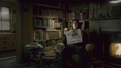 Severus Snape reading the Daily Prophet
