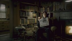 Severus Snape reading the Daily Prophet
