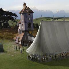 Свадебный шатёр днём