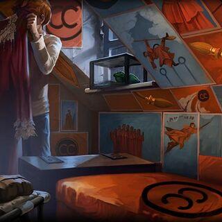 Плакаты «Пушек Педдл» в комнате Рона