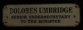 Dolores Umbridge sign.png