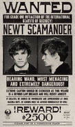 MinaLima Store - Newt Scamander Wanted Notice