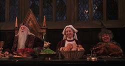 Dumbledore, Pomfrey e Sprout