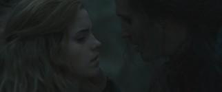 Scabior interrogating Hermione