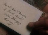 List Albusa Dumbledore'a do Petunii Dursley