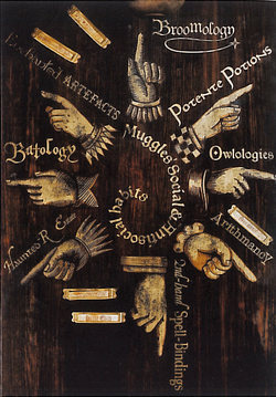 Flourish and Blotts - hand pointing sign - MPF