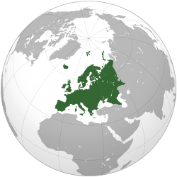 Europe (orthographic projection) svg