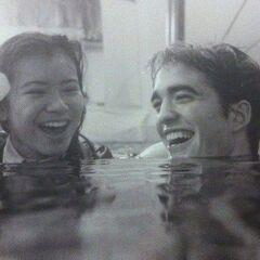 Кэти и Роберт на съёмках четвёртого фильма