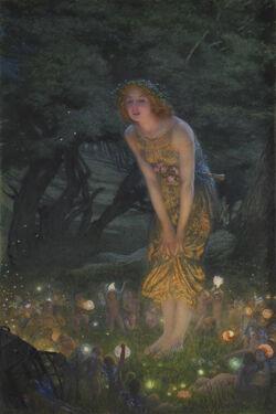 Edward Robert Hughes - Midsummer Eve (1908c) - Kopia
