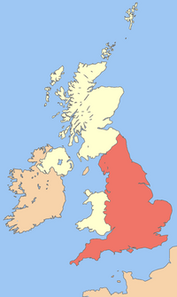 Uk map england